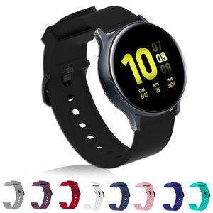 20mm banda de goma para Samsung Galaxy reloj activo 2 40mm 44mm silicón del deporte de la correa de la pulsera de la correa de muñeca