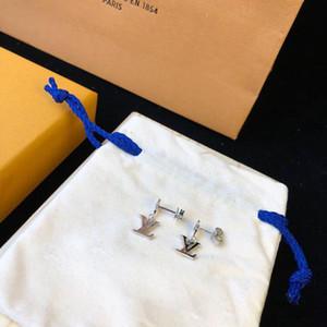 Luxus-Designer-Schmuck-Frauen-Ohrringe 316L Edelstahl Silber Gold stieg Stempel Brief Ohrring-Bolzen-Bolzen-Ohrringe für Herren
