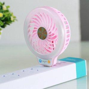 USB LED Fan Mini portátil de preenchimento luz de energia Fãs 2 cores claras bolso Partido Fan pequeno Noite OOA8014 Favor