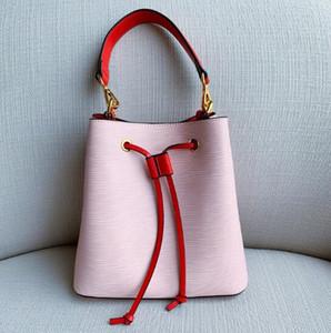 Классический NEONOE Bucket кошелек сумки на ремне сумки Tote печати Цветы Корзина Натуральная кожа Посланника Crossbody сумка