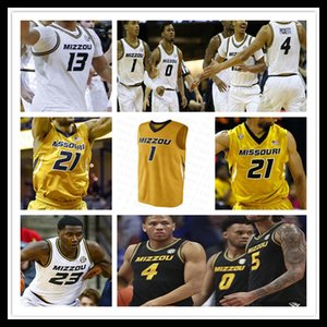 Пользовательские NCAA Mizzou Missouri Tigers Jersey Basketball Dru Smith Mark Smith Javon Pickett Xavier Pinson Torrence Watson Jeremiah Tilmon Brown