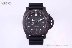 VS 979 reloj DE lujo rubber watchband carbon fiber dial automatic movement watches waterproof luminous designer watches