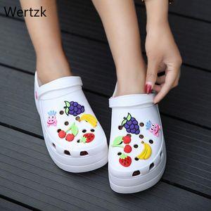 Été Sabots Sandales plateforme jardin Cartoon Fruit Chaussons Glissement pour fille Chaussures de plage Slides Mode extérieure A907