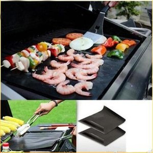 Trendy HIGH quality Black silicone mat Barbecue Tool Accessories Baking Bake Mat Oven Liner Reusable Non-Stick BBQ Grill Mats 40 X 33.