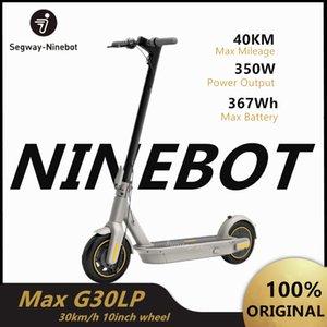 Kickscooter Ninebot Max G30LP elétrica inteligente dobrável Kickscooter dobrável Skate 2020 New Original 30 kmh 40 km 10 polegadas roda