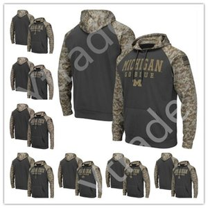 NCAA Michigan Wolverines Penn State State Nittany Lions Alabama Crimson Marée Hommes Sweat-shirt Salut à Service Sideline Camo Pullover Hoodie Jersey