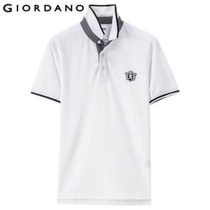 Solide Männer Polo-Hemd mit kurzen Ärmeln Rippstrickkragen Polo Shirts Roundneck Lion Stickerei 3d Elastic Markenkleidung Designer Polo Trend