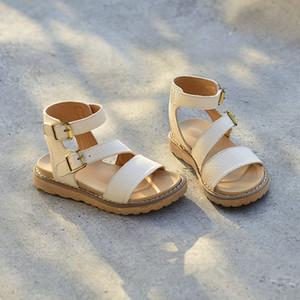 2020 romana sandalias de cuero genuino de los nuevos niños del verano princesa de moda los zapatos de fiesta Show Girls Sandals Euro: 26-36
