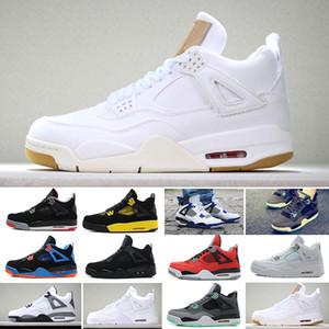 Nike Air Jordan 4 Retro Toptan 2019 Yeni 4 4 s Erkekler Basketbol Ayakkabı Toro Bravo Kaktüs Jack 2012 Yayın Beyaz Çimento Tasarımcı Spor Sneakers 40-47