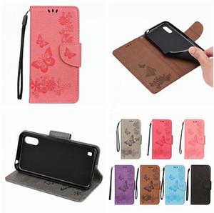 Цветок бумажник кожаный чехол для Samsung Galaxy A01 A71 A51 A80 M30S S20 плюс ультра стенд карты ремешок бабочка мультфильм кожи обложка роскошные 50 шт.