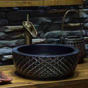 Nueva manera de la porcelana lavabos de cerámica contador superior lavabo lavabo lavabo del fregadero cuarto de lavabo del arte sanitaria