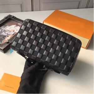 Erkekler Kadınlar Tasarımcı Debriyaj Torba 2020 tasarımcı cüzdan kaliteli Zippy adamın Cüzdan Sahipleri Klasik Marka Cüzdan Hediye