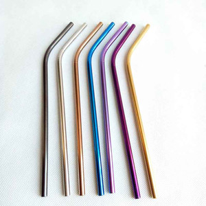 Stainless Steel Colored Drinking Straws 8.5