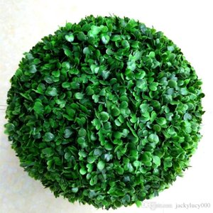 Simulation of High-density Fabric Silk Green Artificial Grass Kissing Ball For Wedding Party Decoration Free Shipping