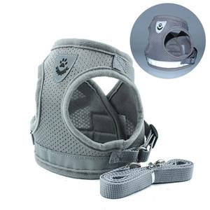 Riflettente di sicurezza Pet Dog Harness e Guinzaglio Set per imbracature tipo di maglia cucciolo Fascia Toracica Pug Chihuahua Bulldog