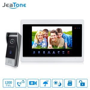 "JeaTone 7 "" Touch Panel Monitor Video DoorPhone Unlocking, Monitoring, Taking Pictures Intercom HD 1200TVL Doorbell Outdor Panel"