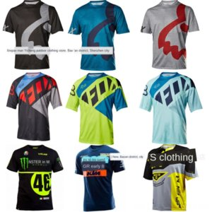 t- Bicycle bicycle clothing cycling jerseys scrambling motorcycle racing short-sleeved T-SHIRT design MTB clothing round neck shirt
