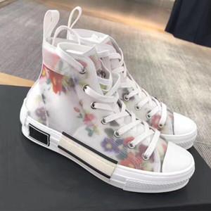 De lujo para hombre 3M Designer Shoes Azul B23 Top Zapato oblicuas los calzados informales de las mujeres Tela de corte bajo Formadores Tamaño 36-45 con la caja