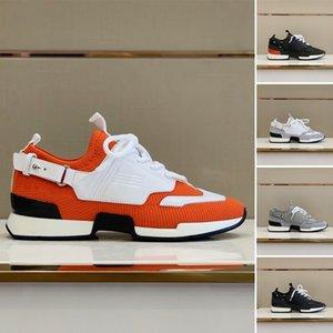 homens de alta qualidade sapatilhas 2020 sapatos desportivos de malha de malha de bezerro casuais sapatos com uma cinta de dobra para trás sobre o lado