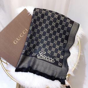 sciarpa di lusso Moda donna autunno / inverno di marca sciarpa in cotone seta dorata morbido ed elegante scialle possono essere purchased180 * wholesale 70 centimetri