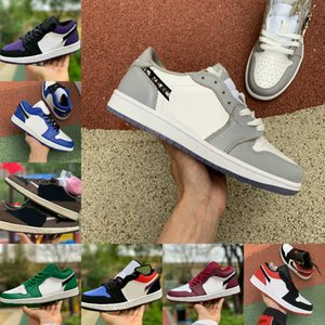 2020 Nike Air Jordan 1 retro jordans Low Travis UNC Parigi Obsidian Ember Glow Retroes Toe Bred 1s Scarpe Donna Dunk Skateboard