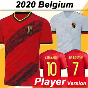 2020 Belgique version DE BRUYNE Joueur E. DANGER Maillots de football Lukaku KOMPANY Accueil extérieur Chemises hommes de football de l'équipe nationale Uniformes MERTENS