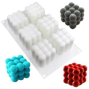 Kalıpları Sihirli Küp Şekli Silika Jel Kek Silikon Kalıpları Üç Boyutlu Birçok Renk Yaratıcı Kalıp Fabrika Doğrudan Satış 20 58js p1
