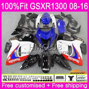 Injection For SUZUKI Hayabusa GSXR1300 08 13 14 15 16 23HM.32 GSX-R1300 GSXR-1300 GSXR 1300 2008 2013 2014 2015 2016 Fairings blue white