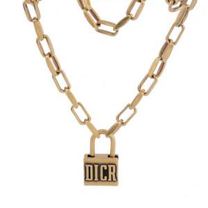 Ожерелье Vintage Блокировка Подвеска для женщин Hip Hop Style Замок цепи ожерелье Подарок для любви Мода ожерелье ювелирные аксессуары