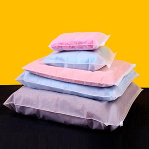 Fermuar Plastik Kılıfı Mat tekrar kullanılabilir ambalaj 50pcs Buzlu Şeffaf Giyim Depolama Kilit Konfeksiyon Paketi Elbise Öz Seal Çanta Zip
