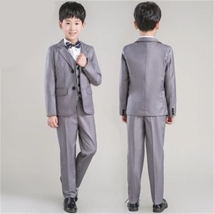 2020 new fashion gray baby boys suit kids blazers boy suit for weddings prom formal spring autumn wedding dress boy suits