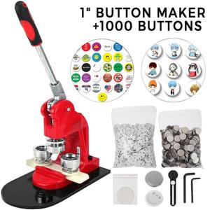 Button Maker 1 pulgada botón de 25mm Placa Maker 1000pcs de aluminio marco libre de piezas para botones y cortador de círculos