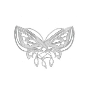 Women Girls Double Hollow Butterfly Brooch Pins Alloy Brooches Wedding Pin