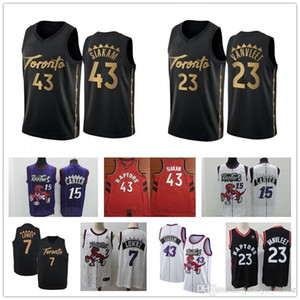Toronto Men's Raptors jersey Pascal 43 Siakam Fred 23 VanVleet Tracy 1 McGrady Vince 15 Carter Kyle 7 Lowry stitched basketball jerseys