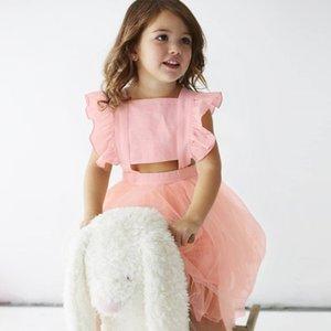 Enkelibb Prenses Kızlar Tutu Elbiseler Yaz Kolsuz Elbise Toddler Kız Moda Siyah / pembe Kızlar Güzel Balo Y19061801