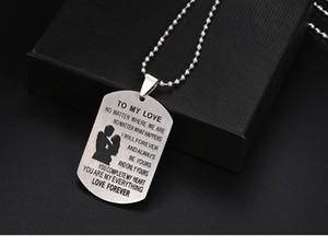 Ожерелье из нержавеющей стали для Моей Любви пара собака тег ожерелья любовь навсегда ювелирные изделия подарок любовь ожерелья