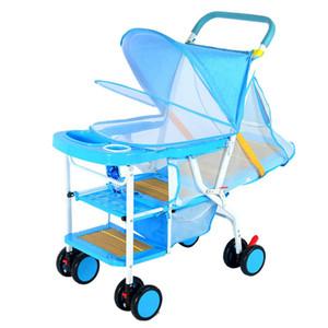 Kidlove Yaz Hafif Katlanır bebek arabası taklit rattan yalan hasır sandalye oturabilir 0-3 yaşında çocuk bebek arabası