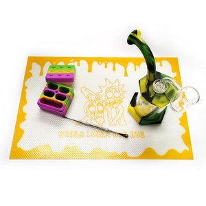 Silicone Mat Dab Mats 11.8'*8' 300*205MM Square Non stick Bakeware dab mats for sale wholesale with design for wax large