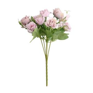 AUGKUN Accueil Décoration bureau Rose Simulé Bouquet Mariage Route Arrangement Sens Faux Rose