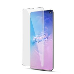 Fingerprint unclockSamsung Galaxy S10 S9 S9 Plus S7 edge 5D Full front Coverage fingerprint unclock NO HOLE Tempered Glass Screen Protector