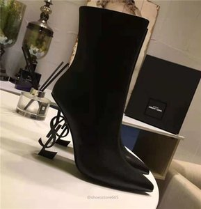 Yves Saint laurent YSL latest high quality authentic real leather fashion women's boots sexy high heels fashion party brand banquet casual women's shoes