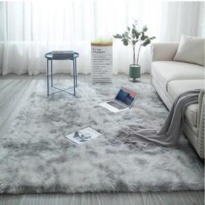 120*200cm Carpet Tie Dyeing Plush Soft Carpets For Living Room Bedroom Anti-slip Floor Mats Bedroom Water Absorption Carpet Rugs