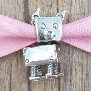 Authentiques Argent 925 perles Bobby Bot Charms Dog Charm Collier bijoux européenne Fits Pandora style Bracelets 797551EN12