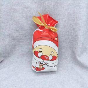 2019 Cookies Saco dos doces do Natal Halloween fita com cordão saco com mão presente do floco de neve Embalagem saco de compras BRW
