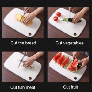 Chopping Board Non-Slip Block Cutting Board Set Eco-Friendly Wheat Straw Kitchen Meat Fruit Food Vegetable Board Tools
