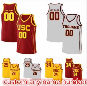 Jonah Mathews Nick Rakocevic 31 Shaqquan Aaron 0 Derryck Thornton 5 Devin Fleming 12 McKay Anderson 15 USC Trojans Basketball Jerseys S-5XL