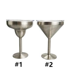 Stokta 8'de Toptan 8oz Paslanmaz Çelik Martini şarap Gözlük Kokteyl Margarita Goblets içme şarap bardakları düğün çubuğu malzemeleri