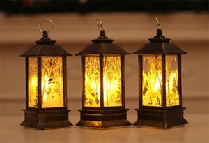 Nueva festiva de la Navidad llevada navidad de la vela decoraciones para árboles de Navidad de luz LED colgantes de ornamentos de navidad