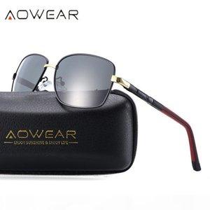 AOWEAR Alüminyum Erkek Polarize Güneş Gözlüğü Erkekler Kaplama Ayna Balıkçılık Sürüş Gözlük Kadınlar Shades Gözlükler óculos gafas de sol