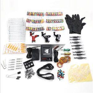 Новая фабрика Комплектация Tattoo Kit 3 PRO Rotary Machine Puns 54 INKS Электропитание Игла Graps TK355
